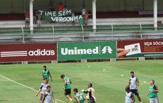 Portal Esporte São José do Sabugi: Fluminense: Torcida vaia e protesta com faixa nas ...