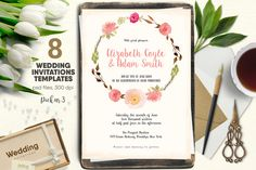 Wedding Invitations Pack nr 3 by Webvilla on @creativemarket