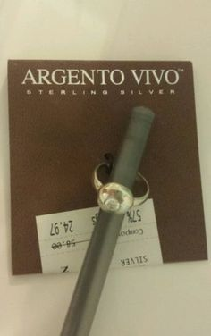 Argento Vivo Sterling Silver Ring Size 6 - http://designerjewelrygalleria.com/argento-vivo/argento-vivo-sterling-silver-ring-size-6/