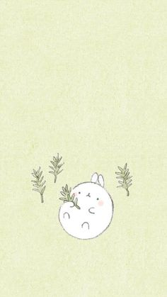 Soft Wallpaper, Kawaii Wallpaper, Wallpaper Backgrounds, Chibi Kawaii, Kawaii Art, Cute Drawings, Animal Drawings, Molang, Simple Wallpapers