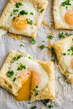 Easy Puff Pastry Baked Eggs