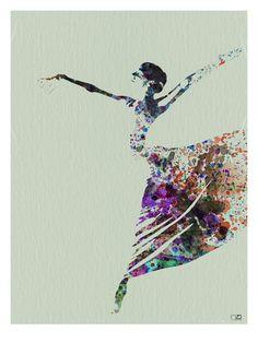 Ballerina Watercolor 3 Art Print at AllPosters.com
