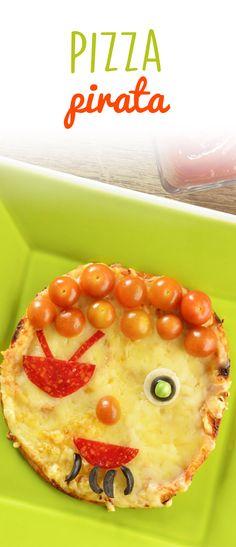 Esta divertida pizza pirata es ideal para divertirte con tus hijos e involucrarlos en el mundo de la cocina. Juega con las distintas formas y has que dejen volar su imaginación con esta sencilla receta. ¡Pruébala!