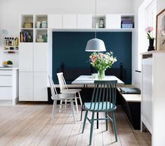 Build a closet around the dining area Dining Nook, Dining Room Walls, Dining Room Design, Sweet Home, Build A Closet, Kitchen Nook, Home Living Room, Kitchen Interior, Home Kitchens