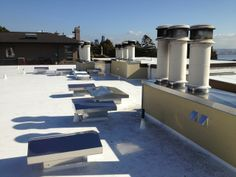 50 Mil Pvc Membrane By Ib Roof Systems Shown In Dark