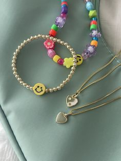 Cute Jewelry, Jewelry Accessories, Beaded Jewelry, Pulseras Kandi, Ring Necklace, Earrings, Accesorios Casual, Jewelery, Fashion Jewelry