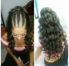 Peinado de Cabello crespo Cute Braided Hairstyles, Flower Girl Hairstyles, Little Girl Hairstyles, Wedding Hairstyles, Little Girl Fashion, Hair Videos, Hair Hacks, Hair Growth, Hair Makeup