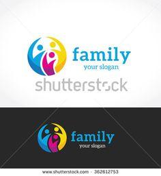 Family Logo,people logo,vector logo template