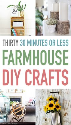 492066 best diy home decor images on pinterest craft ideas home thirty 30 minutes or less farmhouse diy crafts solutioingenieria Gallery
