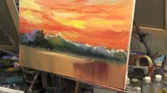 Художник Игорь Сахаров, как научиться рисовать закат,небо, уроки рисования