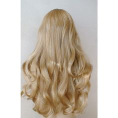 Aurora wig. Disney Princess hair style. Golden blonde long curly hair... ($119) ❤ liked on Polyvore featuring hair, hairstyles, hair styles and sleep hair