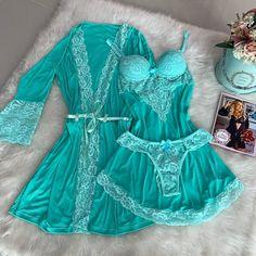 """172 curtidas, 5 comentários - Moça Bonita Lingerie-Pijama (@mocabonita_lingerie) no Instagram: """"Muitas reposições da cor ACQUA"""" Belle Lingerie, Lingerie Outfits, Pretty Lingerie, Bridal Lingerie, Babydoll Lingerie, Beautiful Lingerie, Lingerie Sleepwear, Lingerie Set, Feminine Fashion"""