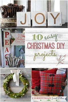 10 Easy Christmas DIY Projects. Great budget decorating ideas...(Future book theme Christmas tree idea:)