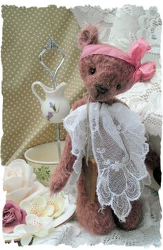Sophia. beautiful hand sewn vintage style art bear.