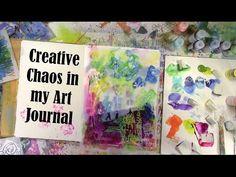 Creative Chaos in My Art Journal by Carolyn Dube using StencilGirl Stencils.