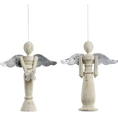 Wood Angel with Tin Wings