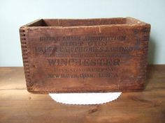Vintage Winchester Wooden Case for New Rival 10 by jessamyjay. Great for rustic, industrial or cabin style decor!