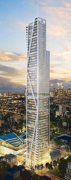 Trump Tower At Century City, Makati, Manila, Philippines by Pomeroy Studio and Broadway Malyan :: 58 floors, height 280m