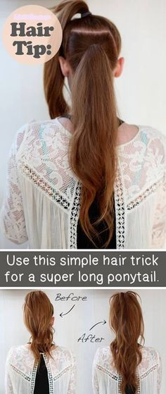 Make your pony tail look longer