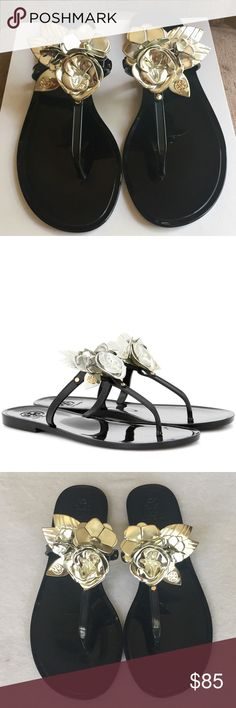 2cad4790028a3 Tory Burch Blossom Jelly Sandals