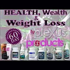 Plexus products for you to help you become healthy.  http://pamalaksuber.myplexusproducts.com