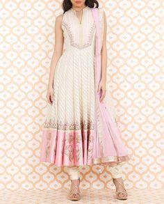 Baby Pink  Cream Anarkali Suit - Anita Dongre