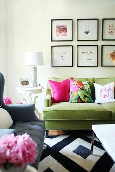 Colour sofa