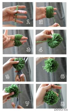Make cute yarn pom-poms with just your fingers!