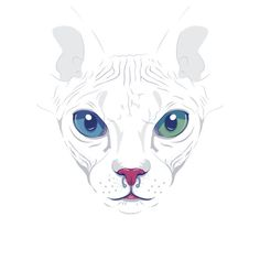 """Cute Sphynx Cat"" Stickers by ohwow 