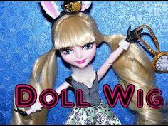 Doll Wig Tutorial - Twin-Roll Wig for Dolls Doll Wigs, Doll Hair, Ooak Dolls, Barbie Clothes Patterns, Clothing Patterns, Doll Clothes, Diy Wig, Doll Tutorial, Monster High Dolls