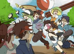 It's old, but the pokemon characters, Nate and Rosa are humiliated by the characters :P Pokemon Mew, Pokemon Manga, Pokemon Comics, Pokemon Noir, Pokemon Ships, Black Pokemon, Pokemon Funny, Pokemon Fan Art, Anime Manga