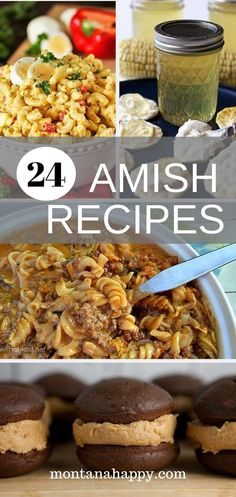 24 Traditional Amish Recipes 24 Authentic Amish Recipes to Try will have you licking your lips deciding which Authentic Pennsylvania recipe to cook up. From breakfast to dinner and even dessert, it will be hard to pick just one recipe! Best Amish Recipes, Real Food Recipes, Dessert Recipes, Yummy Food, Favorite Recipes, Desserts, Breakfast Recipes, Canning Recipes, Crockpot Recipes