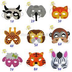Crianças EVA animais máscara máscaras de halloween, Crianças decoração do partido em Máscaras de festa de Casa & jardim no AliExpress.com | Alibaba Group