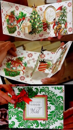 Anna Griffin® Christmas Pop-Up Cardmaking Kit - 7834435 Pop Up Christmas Cards, Chrismas Cards, Christmas Pops, Xmas Cards, Pop Out Cards, Hand Made Greeting Cards, Holiday Greeting Cards, Card Making Kits, Making Ideas