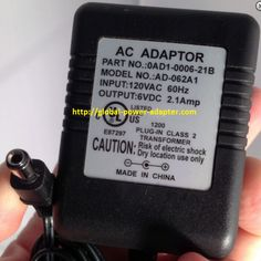 Brand NEW 6VDC 6V 2.1AMP 2.1A FOR 0AD1-0006-21B AD-062A1 Power Supply Adapter