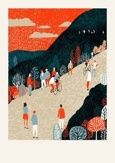 Mountain by Eliza Southwood   Limited edition of 100, signed and numbered. This colourway is exclusive to the V