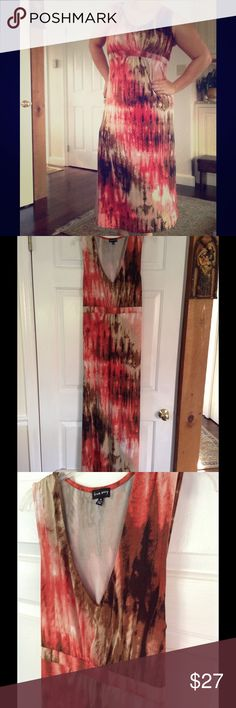 Paint the Town Red Splatter Dress I'm 5'5 and I'm the pic to give idea about length. Very stretchy with tie in back and empire waist for sleek look. true envy Dresses