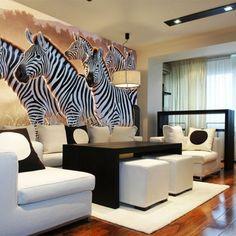 Wild Animal - Zebra - Wall Mural by Walls Republic Wall Murals, Wall Art, Zebras, Animal Print Rug, Nice Dresses, Luxury, Wallpaper, Walls, House