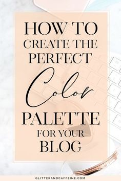 How to create the perfect color palette for your blog. The color scheme is a key element of your visual identity and it should be your number one priority when it comes to choosing what will represent your blog. It will create consistency in everything th Business Branding, Business Tips, Online Business, Corporate Branding, Logo Branding, Graphic Design Tips, Blog Design, Brand Design, Design Design