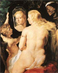Peter Paul Rubens Oil Paintings- Venus at a Mirror, Oil Painting Reproduction Peter Paul Rubens, Renaissance, Venus Painting, Pierre Paul, Baroque Painting, The Birth Of Venus, A Level Art, Beautiful Figure, Entertainment