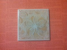 Lace Flower Tile Coasters by Veraltet on Etsy