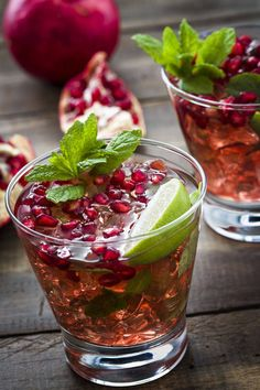 pomegranate margaritas (1 can thawed frozen limeade concentrate, 2 cups water, 3 1/2 cups gold tequila, 2 cups pomegranate juice, 1 cup triple sec, 5 limes, ice cubes for serving, 1 cup fresh pomegranate seeds)