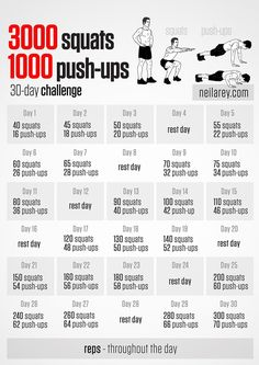 Squats and Push-ups 30 day Challenge!MusclesPro.com