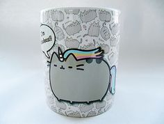Oh My George... FAAAAAAABulous!!!!   MUG CUP TAZA TASSE CAFE TE COFFEE PUSHEEN THE CAT GATOS FABULOUS UNICORN