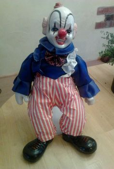 Creepy Clown Doll vintage with porcelain head hands and boots stand rare circus | Collectibles, Decorative Collectibles, Figurines | eBay!