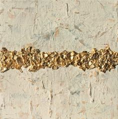 """gold leaf abstract 8x8"""" art"""