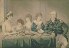 Captain Philip Gidley King (23rd Apr 1758 - 3rd Sept 1808, 3rd Governor of New South Wales) and his family, Robert Dighton, 1799. State Library of New South Wales: ML 1244