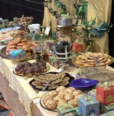 Dessert table with everyones favourites...doughnuts, cookies and more!