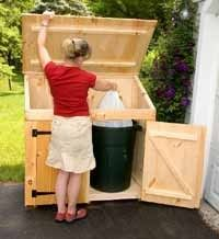 Storage Shed Outdoor Tool Garbage Trash Rubbish Wood Recycling Made In Usa