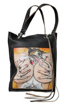 Fatbagz Dit speciale tassenlabel combineert kunst en ambacht. De afbeeldingen zijn van Erlinde Stephanus en de tassen made by Esther Valk Design.